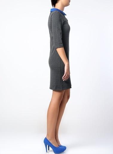 Asymmetry Elbise Antrasit